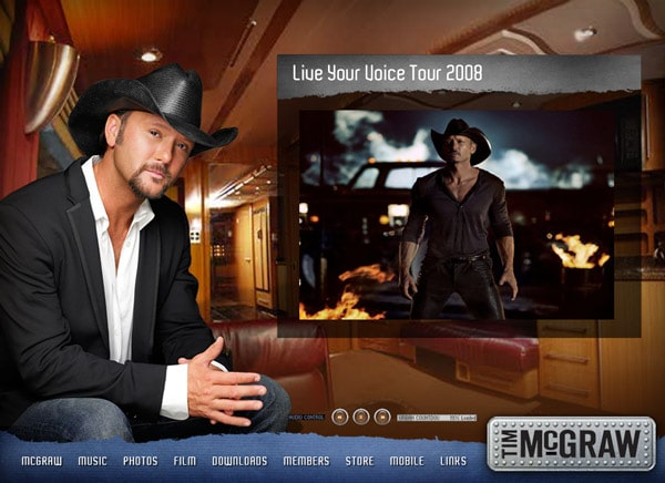 Tim McGraw Flash Site 2