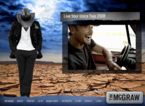 Tim McGraw Flash Site