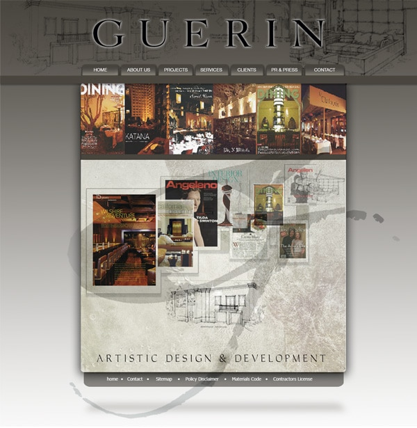 Guerin Designs website