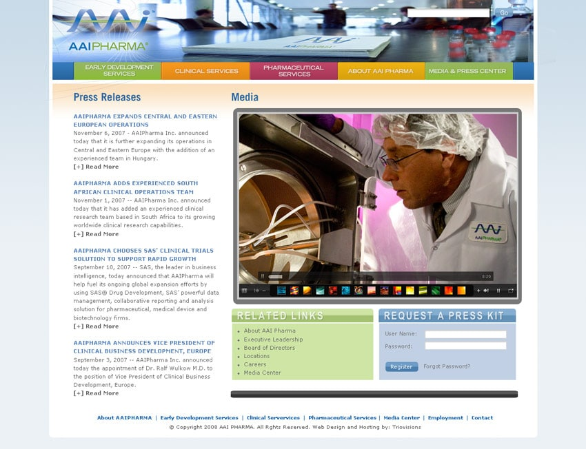 AAI Pharma Inner Page