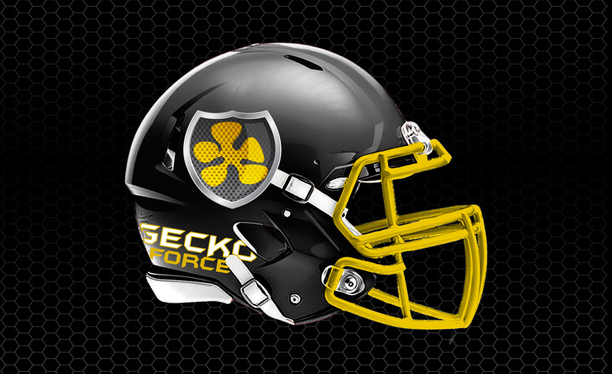 Geck Force Football Helmet demo