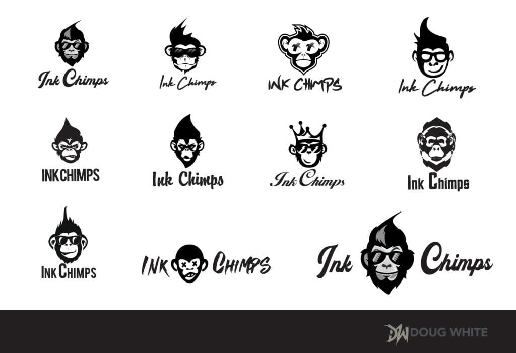 Ink Chimps Logos