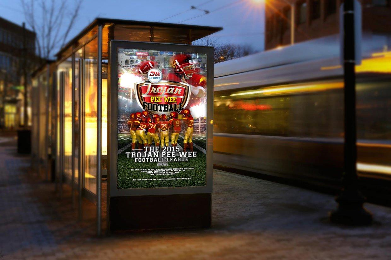 Pee Wee Trojans Kiosk Displays