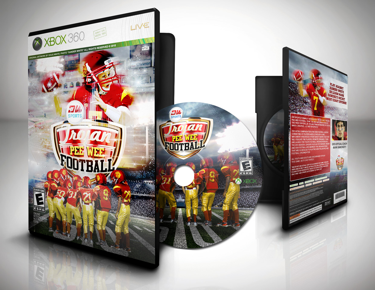Pee Wee Trojans Game Art for XBOX