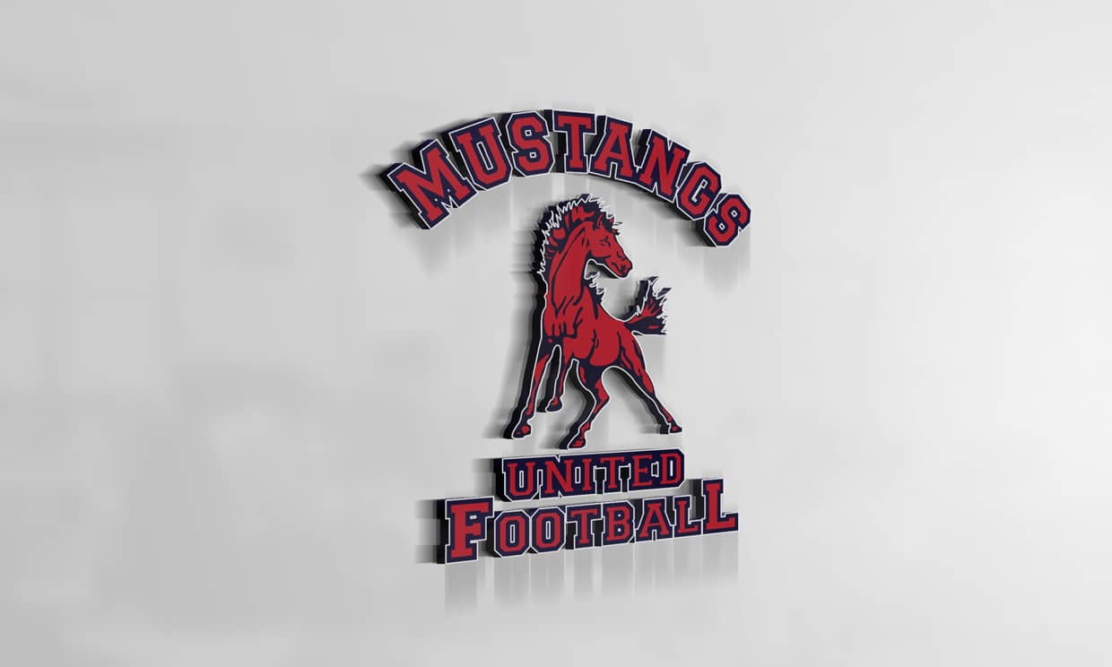 United Sports Mustangs 3D Logo